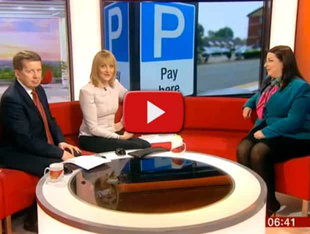car parking fines jeanette miller on BBC breakfast interview