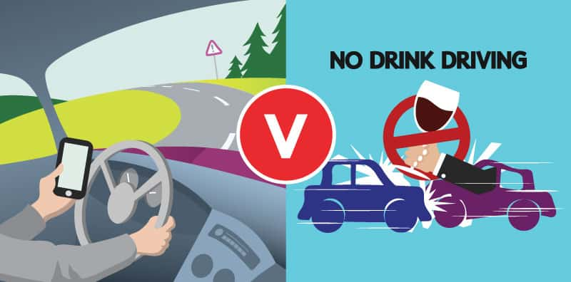 mobile phone offence verses drink driving offence