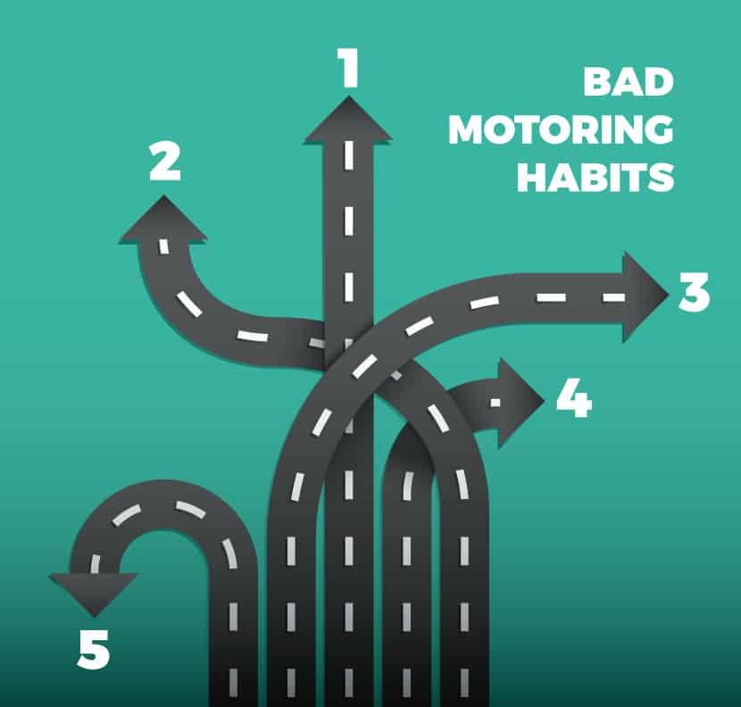 5 bad motoring habits