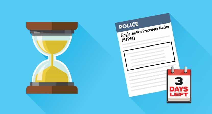 Single Justice Procedure Notice Time Limit