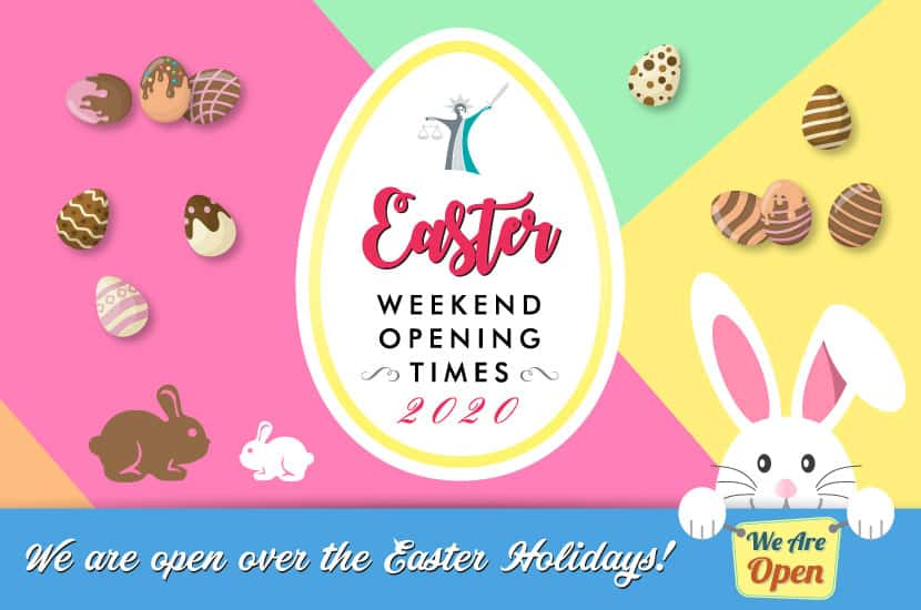 easter weekend opening times 2020
